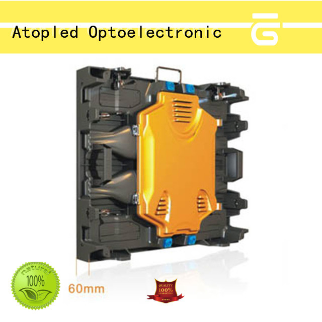 Atop rental led screen light easy maintenance for both outdoor and indoor