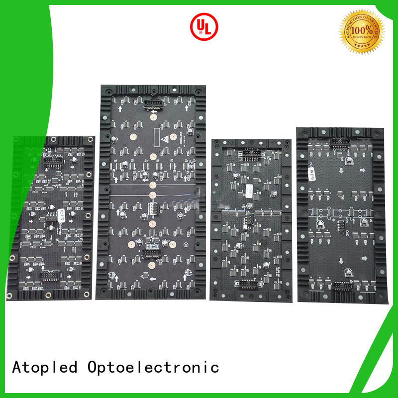 Atop customized flexible led video wall for shopping mall
