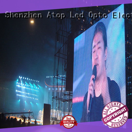 Atop light giant led screen with reliable quality for both outdoor and indoor