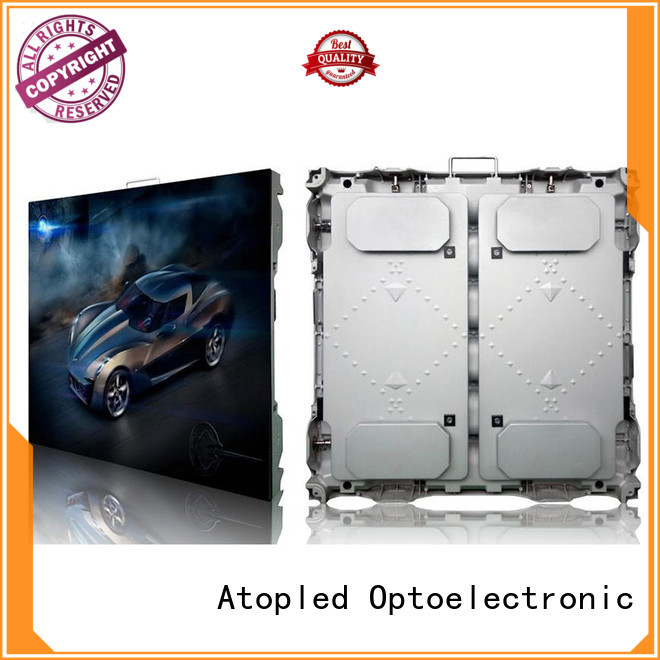 Atop led digital advertising screens easy maintenance for company advertising