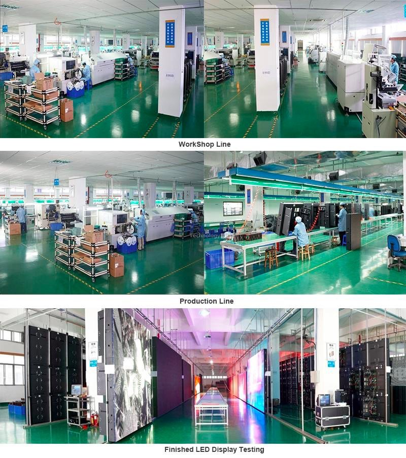 Atop led transparent led wall with low temperature for events