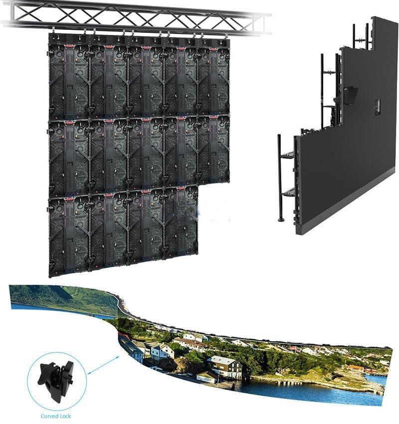 anti-interference large outdoor led display screens screen easy maintenance for both outdoor and indoor