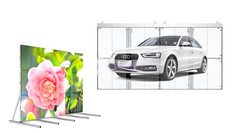 glass led display screen transparent for shopping centers Atop