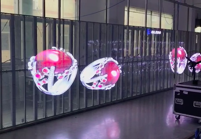 Atop screen glass led display screen with high transparency for building facades-6
