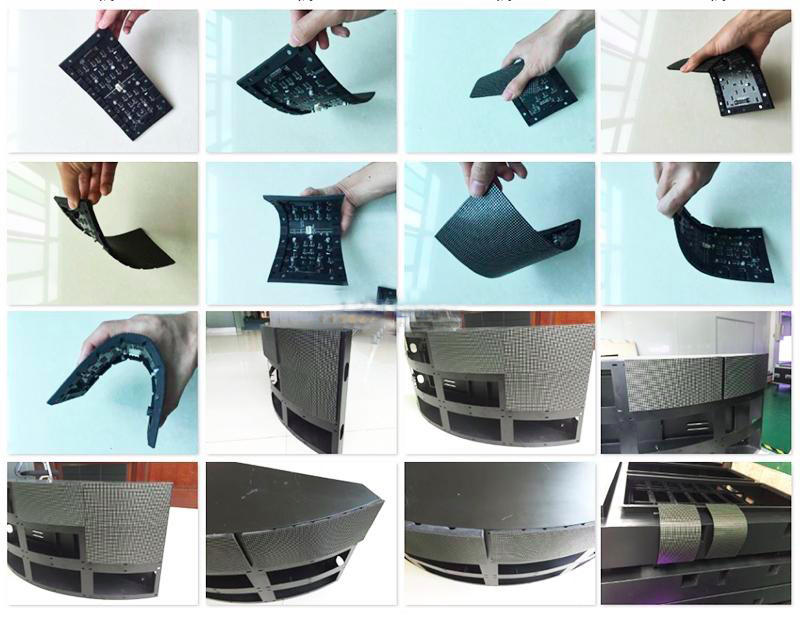 high quality flexible led video screen creative easy to assemble for shaped stage background-3