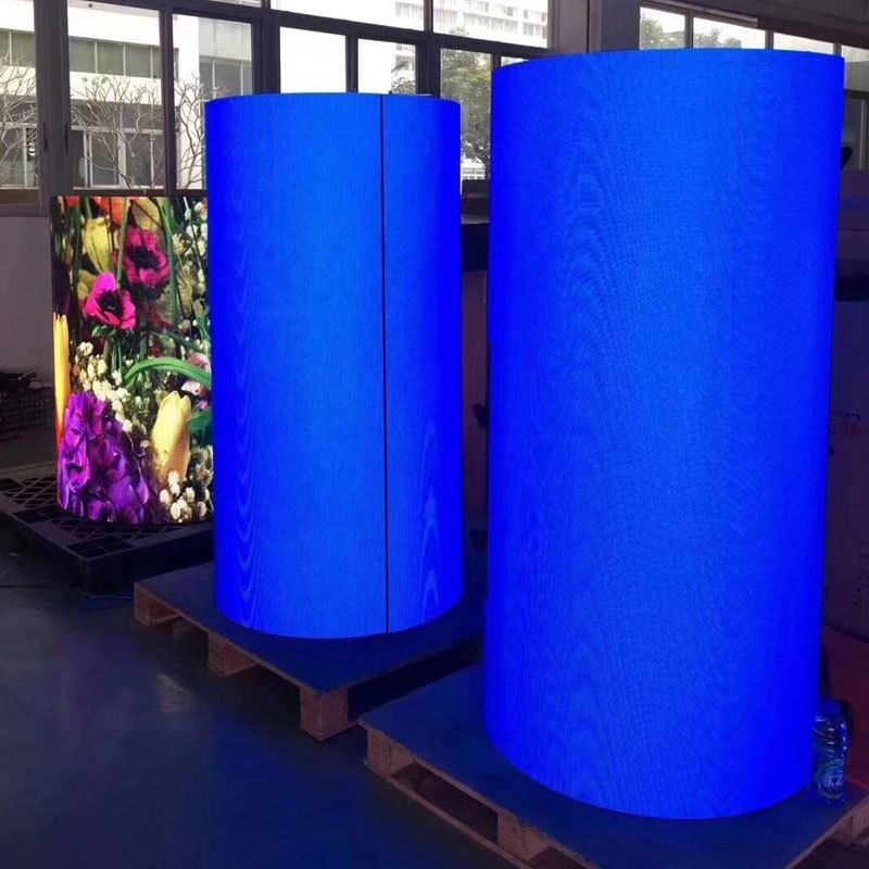 customized flexible led screen price easy to assemble for shopping mall