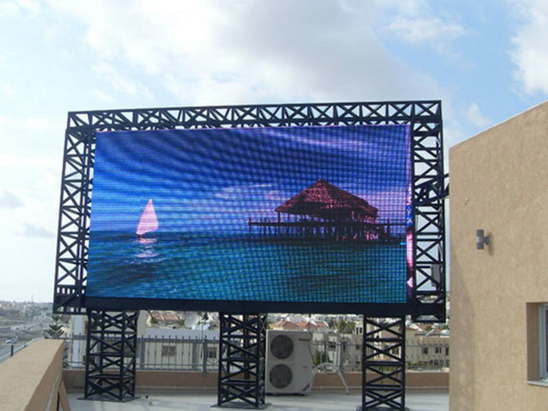 P4 outdoor Led screen ,Size total 12 sq.m. for adverting in Bolivia