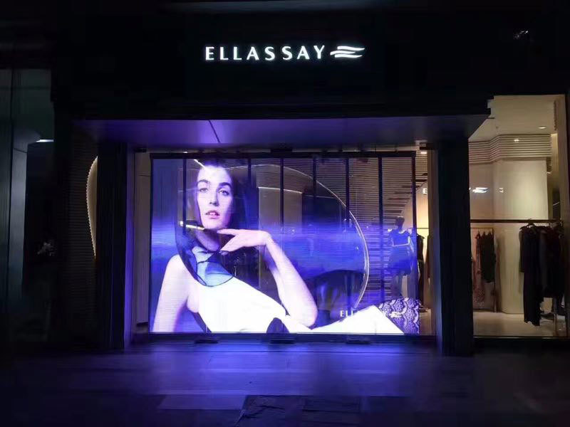Transparent led screen For Shopping Center in Australia.