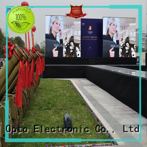 Atop reliability full color led display screen with reliable quality for company advertising