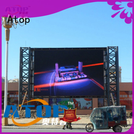 Atop alloy led screen wall with reliable quality for both outdoor and indoor