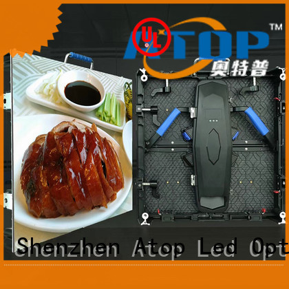 Atop custom outdoor advertising led display screen easy maintenance for company advertising