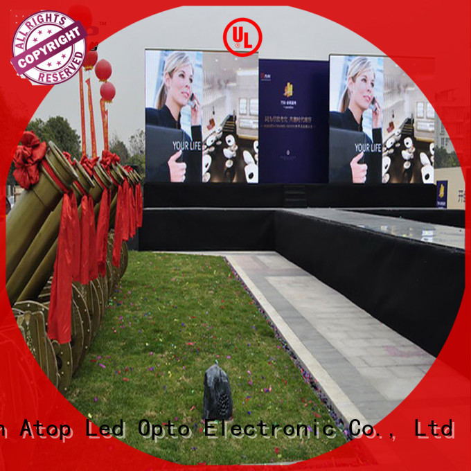 anti-interference led screen light outdoor with high precision for company advertising