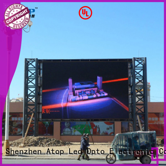 Atop advertising rental led sign with reliable quality in market