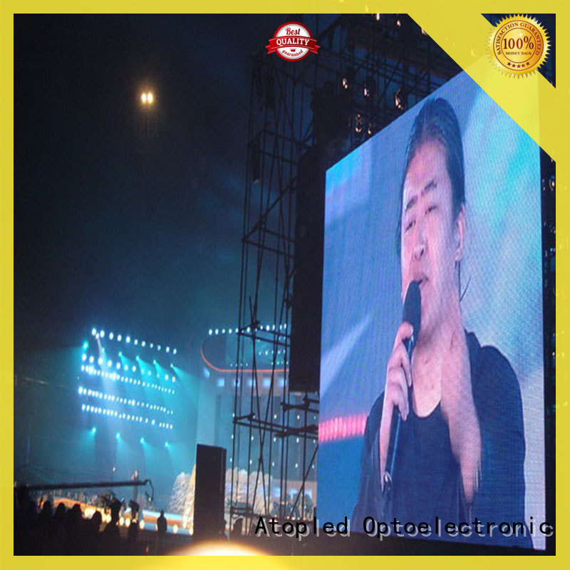 Atop panel outdoor led screen hire with high precision for company advertising