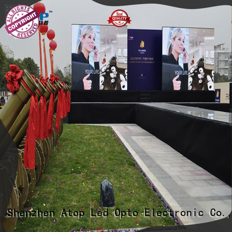 Atop automatically outdoor led screen hire easy maintenance for both outdoor and indoor