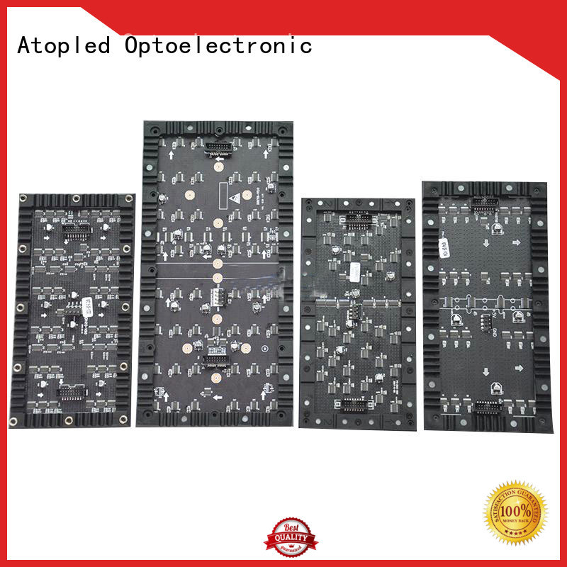 Atop high quality flexible led display with small-unit for shaped stage background