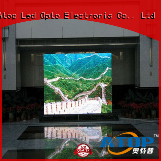 Atop fixed indoor led screen with reliable driving IC for indoor led display