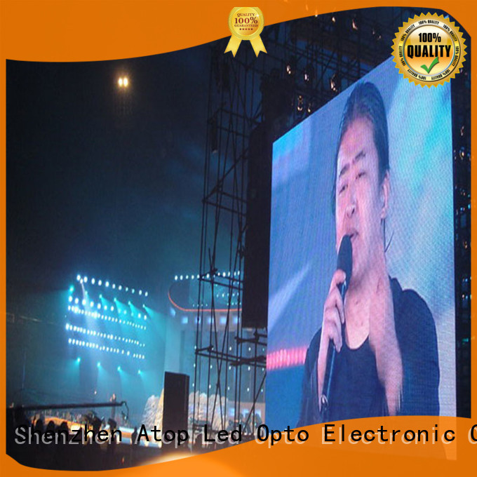 Atop automatically outdoor led display panels with high precision for both outdoor and indoor