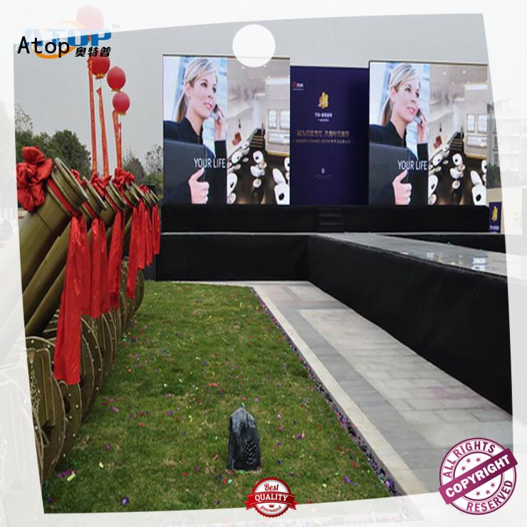 Atop screen led video screen rental easy assembling