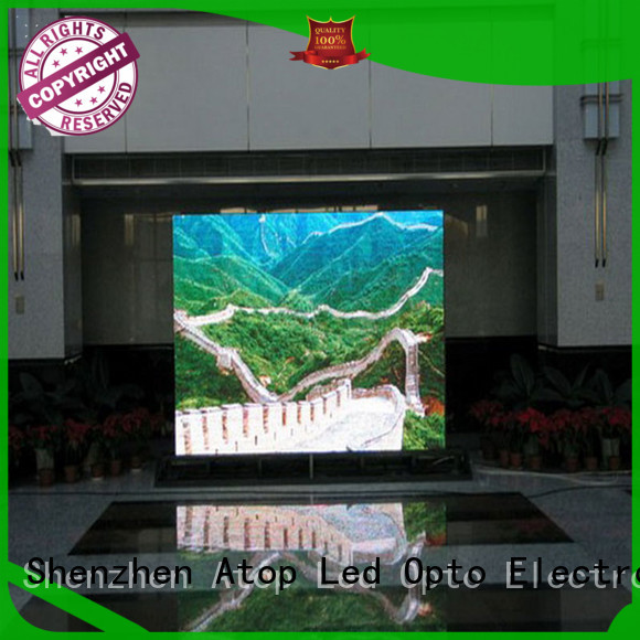 Atop customized indoor led screen with reliable driving IC in market