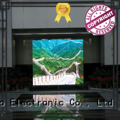Atop mounted indoor fixed led display with the stringent quality standards for advertising