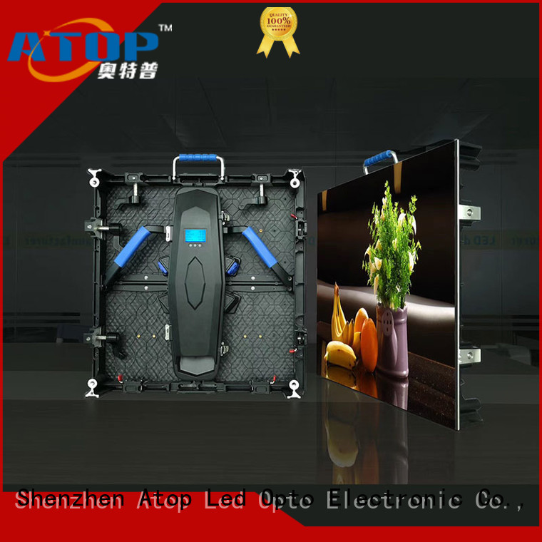 Atop full led video wall hire easy assembling for LED screen