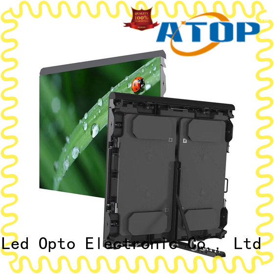 Atop advertising advertising led screen with high precision for both outdoor and indoor
