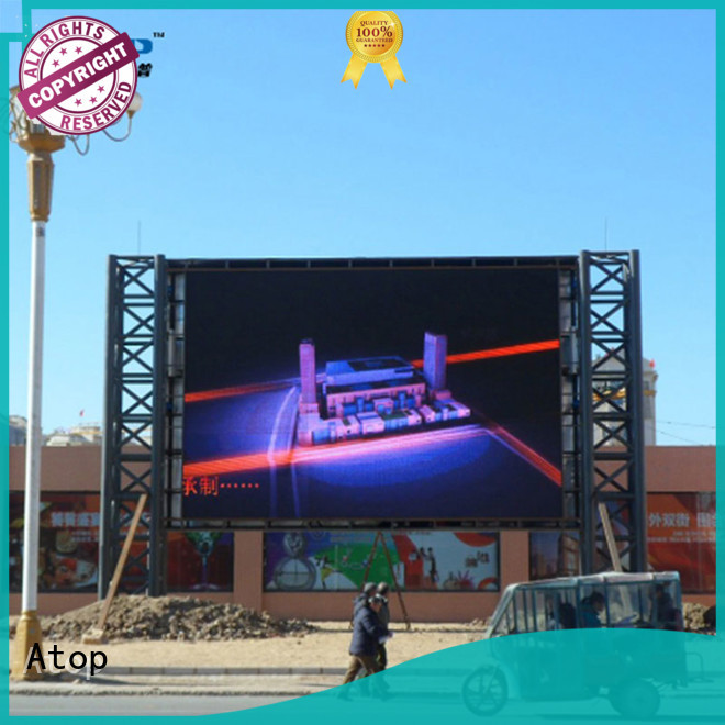 Atop automatically digital advertising board easy maintenance in market