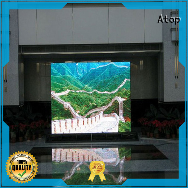 Atop customized led screen design with best color uniformity for advertising