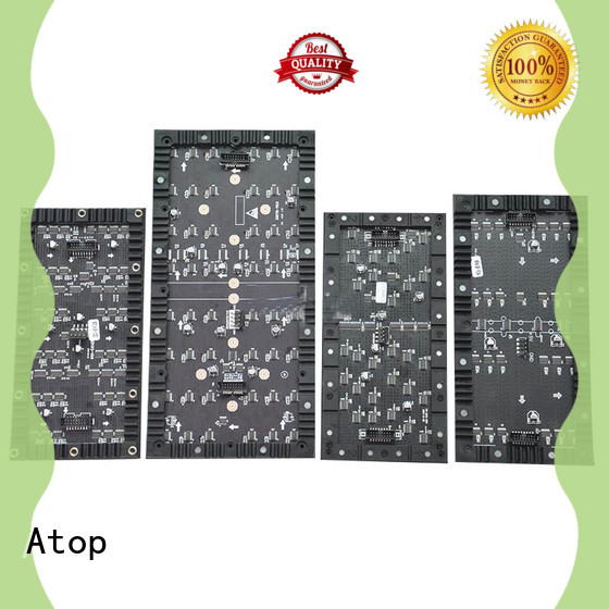 Atop led flexible led display easy operation for shaped stage background