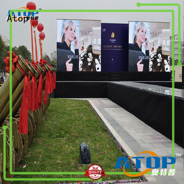 Atop custom full color led screen with reliable quality for company advertising