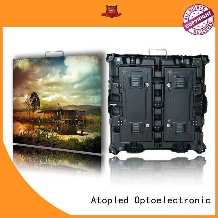 wall rental led display easy assembling for indoor rental led display Atop