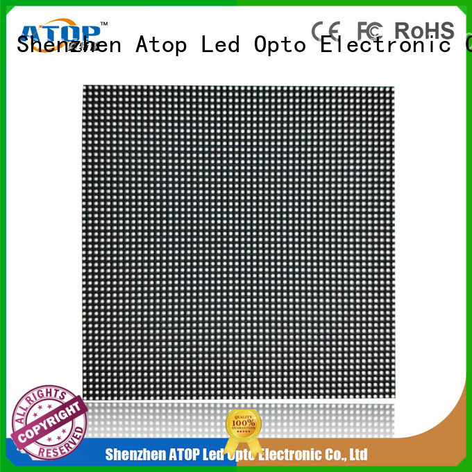 Atop alloy rental led screen with reliable quality for both outdoor and indoor