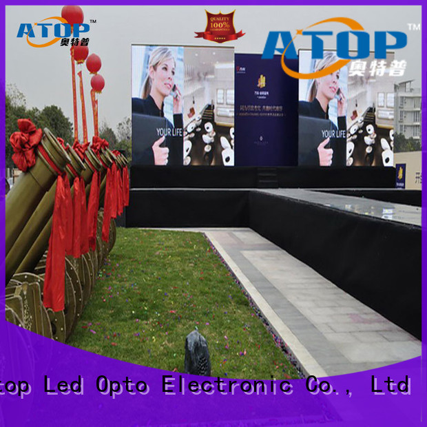 Atop led full color led panel with high precision for company advertising