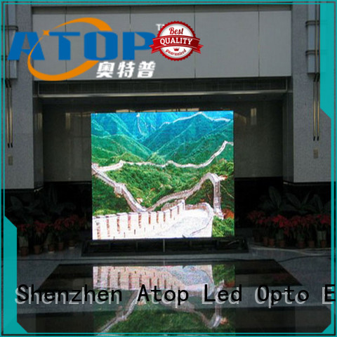 Atop customized best led video wall with reliable driving IC for indoor led display
