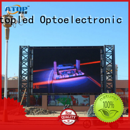 Atop super led wall display with high precision for company advertising
