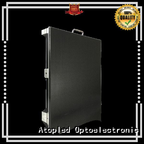 Atop panels led video screen rental easy assembling for LED screen