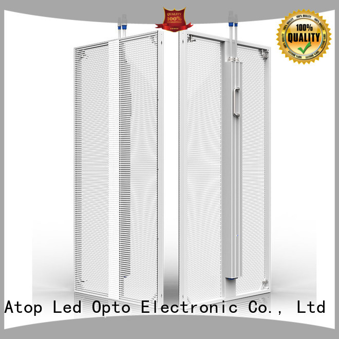 Atop easily transparent led display price easy maintenance for building facades