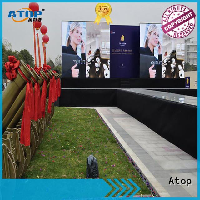 Atop custom rental led panel easy maintenance for company advertising