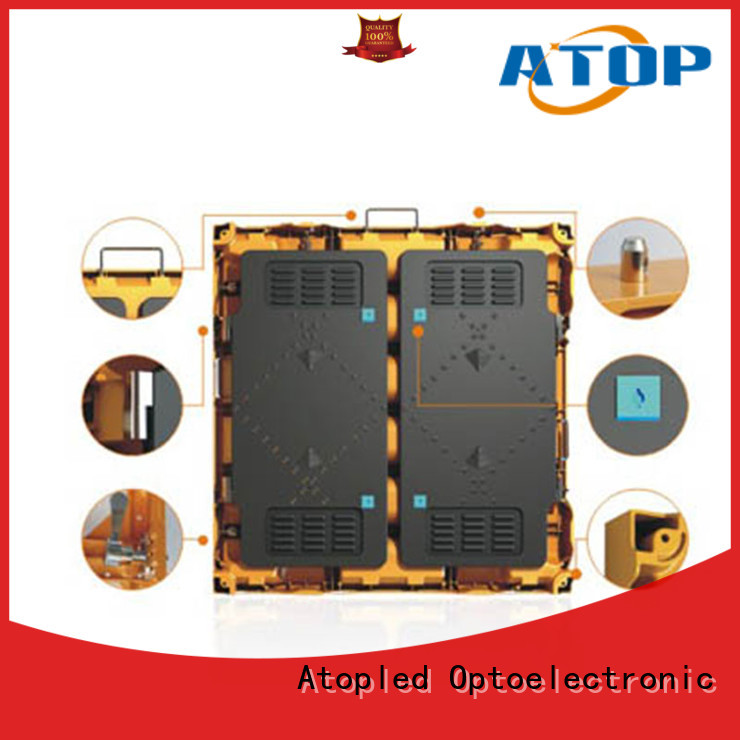 reliability outdoor led display screen light with high precision for company advertising