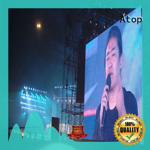 Atop screen outdoor led screen hire easy maintenance in market
