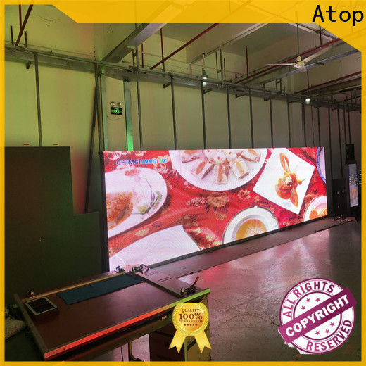 Atop led display screen price with best color uniformity for company advertising