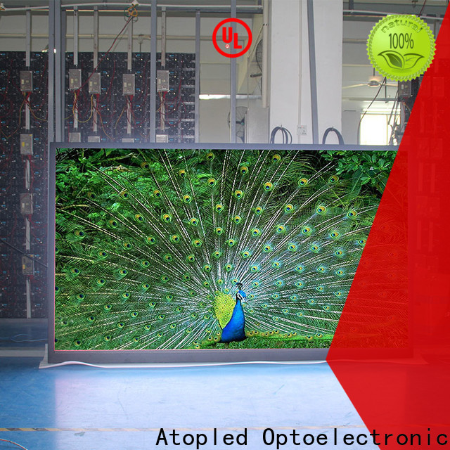 Atop priced-low large screen display easy assembling for indoor rental led display