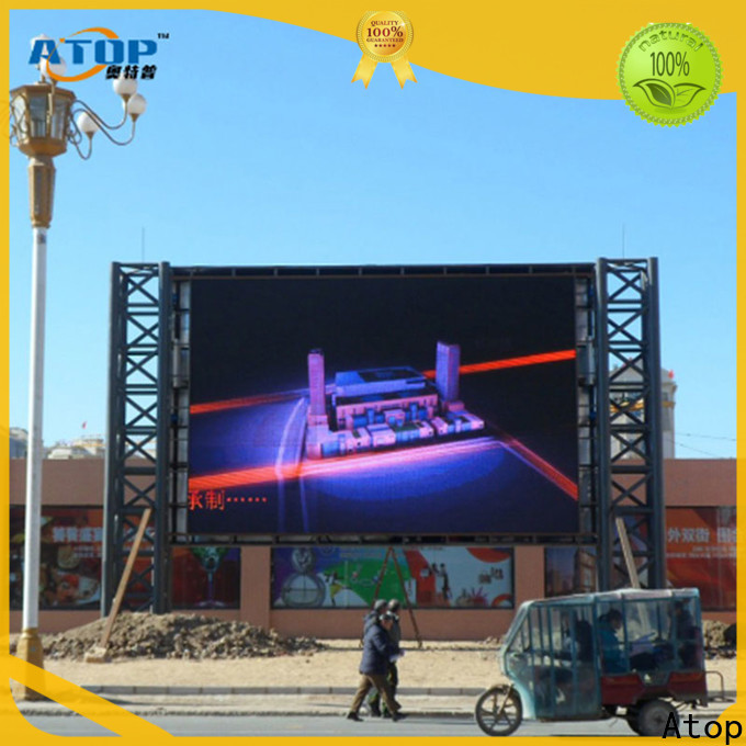 Atop high-strength led wall display with high precision in market