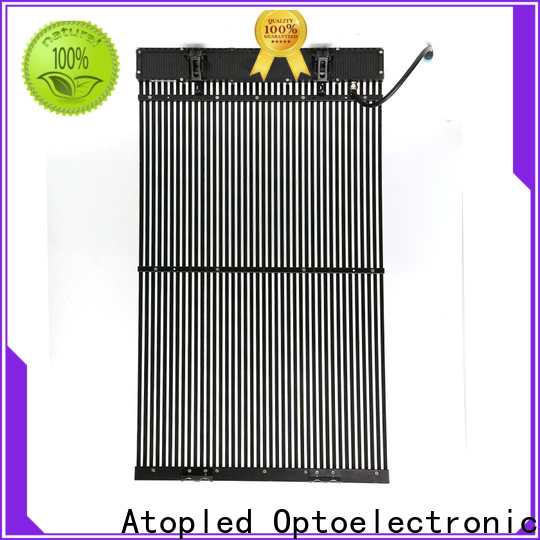 Atop atop glass led screen with low temperature for building facades