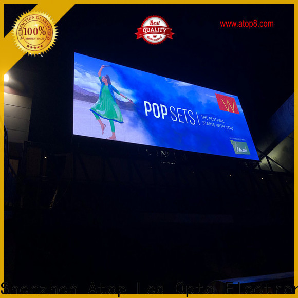 Atop energy saving led screen with reliable quality for both outdoor and indoor