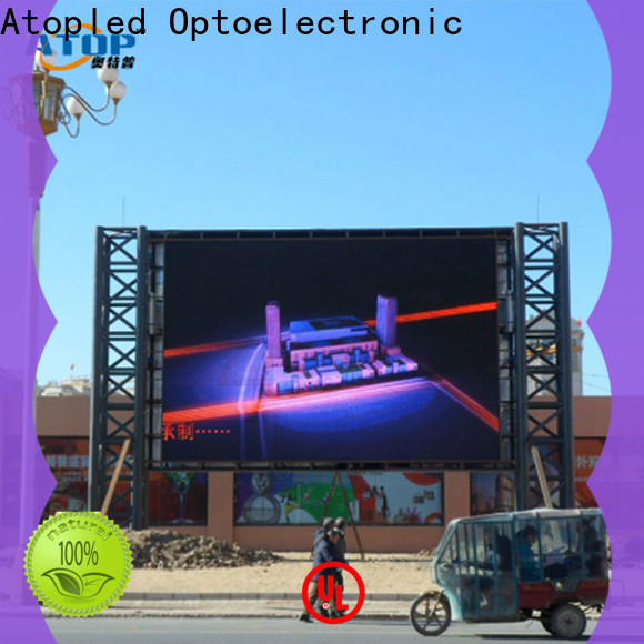Atop custom led screen hire with high precision in market
