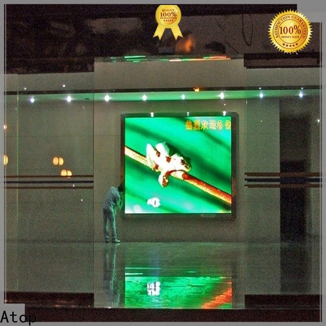Atop video wall mount with reliable driving IC for indoor led display