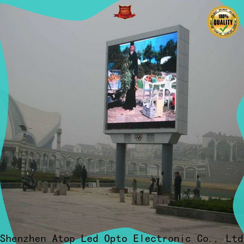 Atop customized p5 led display with relaible quality for advertising