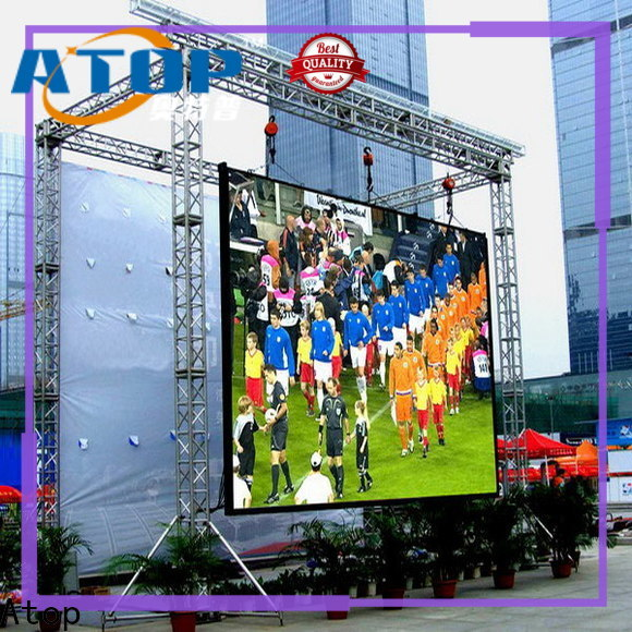 Atop customized p2 led screen with relaible quality for advertising